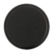 SYR-010187/BK Πλαστικός δίσκος με αντιολισθητικό λάστιχο, φ36cm, μαύρος, Ελληνικής κατασκευής