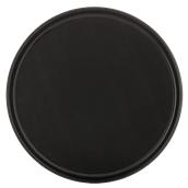 SYR-010189/BK Πλαστικός δίσκος με αντιολισθητικό λάστιχο, φ42cm, μαύρος, Ελληνικής κατασκευής