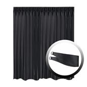 BOC-295X250/02 Κουρτίνα Blackout 295x250cm, με 1 δέσιμο, 230gr 100% Polyester, Μαυρο