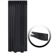 BOC-144X290/02 Κουρτίνα Blackout 144x290cm, με 1 δέσιμο, 230gr 100% Polyester, Μαυρο