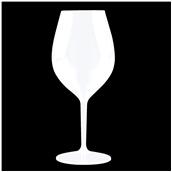 5001-11 Πλαστικό ποτήρι κολωνάτο TRITAN πισίνας 51cl λευκό