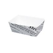 210BCNEWS850 Δοχείο χάρτινο 850ml, 15x9x5cm, Με σχέδιο εφημερίδας, Μίας χρήσης
