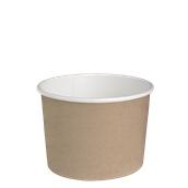 210DELIPOC24 Χάρτινο δοχείο για σαλάτες, 650ml, Φ11,4cm, χρώμα Kraft, μίας χρήσης