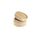 209bbdim10 Μίνι Δοχείο από Bamboo με καπάκι Φ10x6(3+3)cm