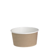 210DELIPOC20 Χάρτινο δοχείο για σαλάτες, 600ml, Φ11,4cm, χρώμα Kraft, μίας χρήσης