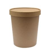 210SOUPCOK24 Χάρτινο κύπελλο Kraft με καπάκι, 710ml, 11,6x11cm