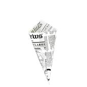 210PCONEW450 Κώνος σερβιρίσματος 660ml, 22x22x30,5cm, χάρτινος με σχέδιο εφημερίδας