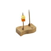 209BBAHAYA Βάση στήριξης για 4 Σουβλάκια «Teppo Gushi» από Bamboo 8x4x2cm