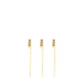 210BBMEDRA9 Sticks Ξύλινα 9cm με ετικέτα Ψησίματος MEDIUM RARE, Σειρά «Teppo Gushi»