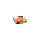 209MBSOUZY Δισκάκι 6,3x6,3x1cm, ασημί πλαστικό