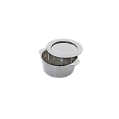 209MBCOCSILV Δοχείο με καπάκι Φ6,9x3,4cm, ασημί πλαστικό