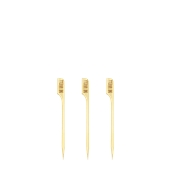 210BBMEDWELL9 Sticks Ξύλινα 9cm με ετικέτα Ψησίματος MEDIUM WELL, Σειρά «Teppo Gushi»
