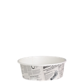 210DELINEWS12 Χάρτινο δοχείο για σαλάτες, 360ml, Φ11,4cm, σχέδιο εφημερίδα, μίας χρήσης
