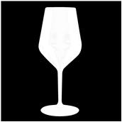 5000-11 Πλαστικό ποτήρι κολωνάτο TRITAN πισίνας 47cl λευκό