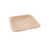 PUL405555D Δίσκος ζαχαροκάλαμου για Snack, Burger, Τοστ, 14x14cm, Sabert