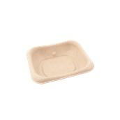 PUL400606D300 Δίσκος ζαχαροκάλαμου για Snack, Burger, Τοστ, 13x13cm, Sabert