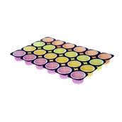TSPA110A Δίσκος (50.4x33.6cm) με 24 χρωματιστές πουά θήκες ψησίματος για Muffin φ63x36mm, Ιταλίας