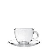T03520 Γυάλινο Φλυτζάνι με πιατάκι Cappuccino, 22,5cl, Φ9,2 x 6,5cm, Σειρά BRAZIL, CERVE