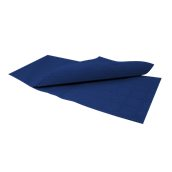 86350600 Τραπεζομάντηλο πολυτελείας, ανάγλυφο DAMASK 100x100 Σκούρο Μπλε, FATO Ιταλίας