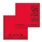 82975400 ΠΑΚΕΤΟ 40 Χαρτοπετσέτες Point-to-Point 38x38, σχέδιο Steak House, FATO Ιταλίας