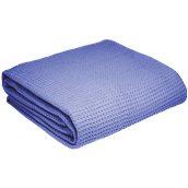 WF280-RB-230X250 Κουβέρτα πικέ διπλή, 230x250cm, raf μπλε, 280gr/m², Πολύ απαλή