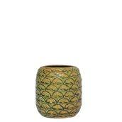 PINEAPPLE-52/GN Κούπα Tiki 52cl, φ7.3x17cm, ανανάς, πράσινο-καφέ, Ελληνικής κατασκευής