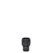 HEAD-4/BK Κούπα Tiki 4cl, σφηνάκι, 5.5cm ύψος, μαύρο, Πορσελάνης, Ελληνικής κατασκευής