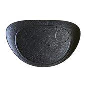 VU034370779 Πιάτο Οβάλ Πορσελάνης 37x25cm, Σειρά VULCANIA, μαύρο, TOGNANA
