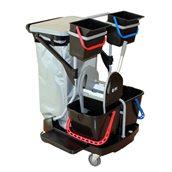 DI-ENVIRO Πλήρες καρότσι σφουγγαρίσματος με κουβάδες, πρέσσα, σακούλα απορρ., 67.5x89x106cm, DIVERSEY