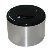 IB-10LT/ALU Παγοδιατηρητής ασημί-μαύρος πλαστικός  φ29x22cm, 10Lt, με σχάρα