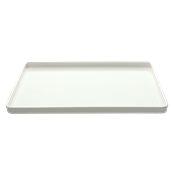 S0921400BIA Δίσκος μελαμίνης ορθογώνιος με γωνία 40x27cm, Λευκή, TOGNANA