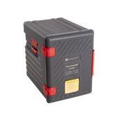 TC12/GREY(P600M) Ισοθερμικό Κουτί 6xGN1/1, με Μεντεσέ, γκρι, Plast Port
