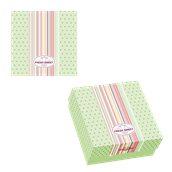 025.13.004 Κουτί ζαχαροπλαστικής μεταλιζέ FRESH No 8, 16x13x7,5cm