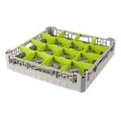 BD-16/GREY Τελάρο-Μπασκέτα Πλυντηρίου με 16 χωρίσματα 50x50x10cm, Plast Port