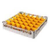 BD-36/GREY Τελάρο-Μπασκέτα Πλυντηρίου με 36 χωρίσματα 50x50x10cm, Plast Port