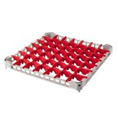 BDE-49/GREY Προέκταση Μπασκέτας Πλυντηρίου με 49 χωρίσματα 50x50x4cm, Plast Port