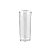 PCG17/CL Ποτήρι σωλήνας πλαστικό PC (Policarbonate), διάφανο, 320ml, Plast Port