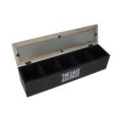 TTB50 Ξύλινο κουτί για τσάι, 5 θέσεων, 38x9x9cm