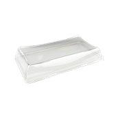 DOM51216 Καπάκι διάφανο πλαστικό 12x16x3cm, Μίας Χρήσης, PET, Μαύρος, Sabert