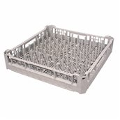 PL-01/GREY Τελάρο-Μπασκέτα Πλυντηρίου για πιάτα 50x50x10cm, Plast Port
