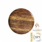 SD01-24 Θερμαινόμενο πιάτο πορσελάνης φ27cm, παραμένει ζεστό για 30', σχέδιο ξύλου, TempControl