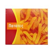 269.02.0000 Κουτί Ψητοπωλείου μεταλιζέ, με σχέδιο Πατάτες, διπλής μερίδας, κόκκινο, 16x13.5x6cm