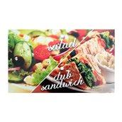 262.00.0000 Κουτί μεταλιζέ 4 σημείων, πλαστικοποιημένο, με σχέδιο Club/Salad, 21.5x13x5cm