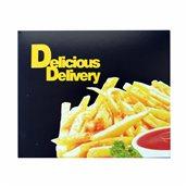 269.01.0000 Κουτί Ψητοπωλείου μεταλιζέ, με σχέδιο Πατάτες, διπλής μερίδας, μαύρο, 16x13.5x6cm