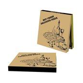 33x33x4.2 /DELICIOUS Κουτί Πίτσας Μικροβέλε FRESH DELICIOUS, Kraft, 33x33x4.2cm