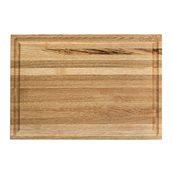 KS-020172 Ξύλινο πλατό με Λούκι, από ξύλο Καστανιάς, 40 x 28 cm