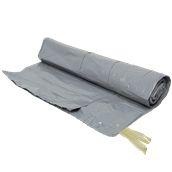 RBH-7095/GR Ρολό 10 τεμ. σακούλες σκουπιδιών, απορριμμάτων 70x95cm με κορδόνι, Γκρι χρώμα