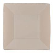 8056-41 Πιάτο φαγητού XL πλαστικό PS τετράγωνο 29x29cm γκρίζο-μπεζ πολυτελείας.