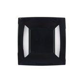 7052-19 Πιάτο γλυκού πλαστικό PS τετράγωνο 18x18cm μαύρο πολυτελείας.