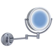 HG-S119B8 Καθρέφτης μεγεθυντικός με φως 3X, χρωμίου, 8 ιντσών